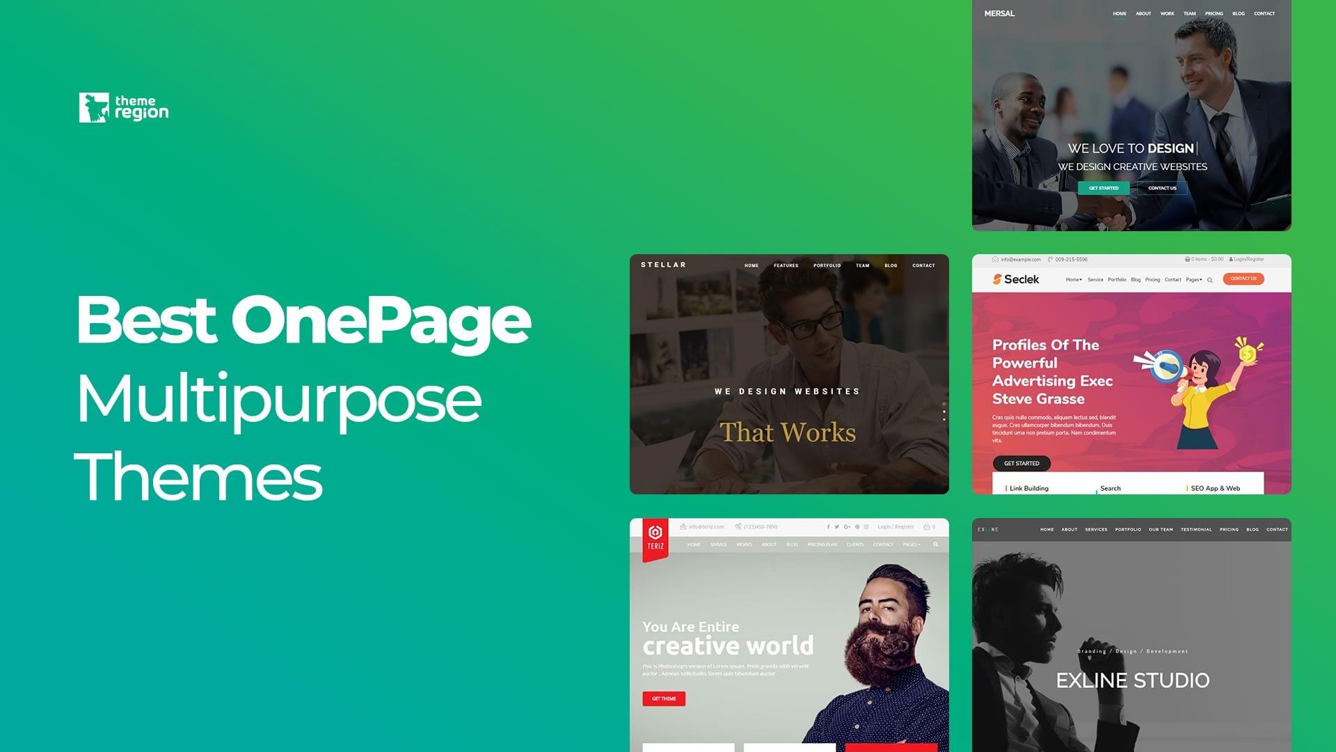 Best OnePage Multipurpose Themes for WordPress 2019