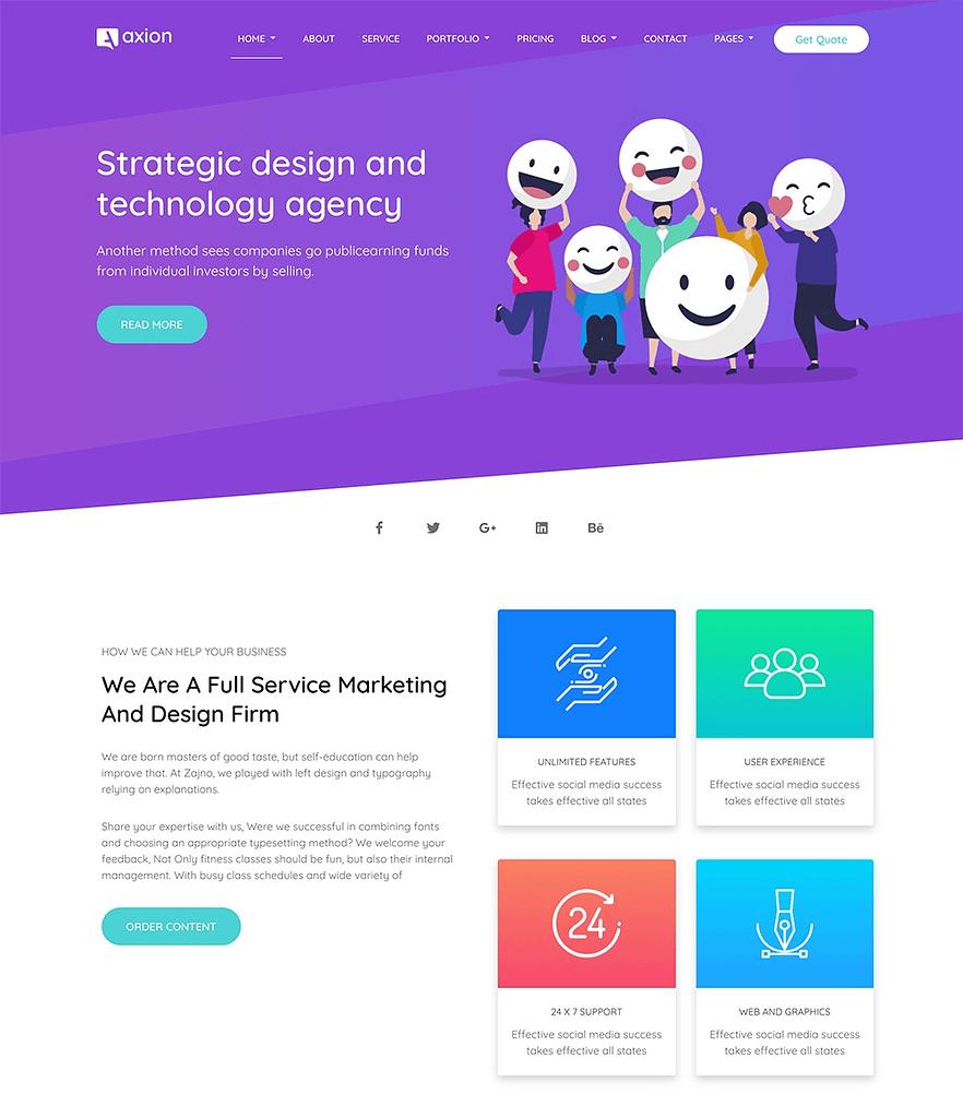 Axion –Digital Marketing Agency WordPress Theme
